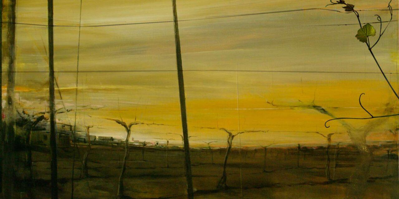 """""""El adelantado: paisaje de abril en viñedos """" (2017), de Fernando Wilson"""