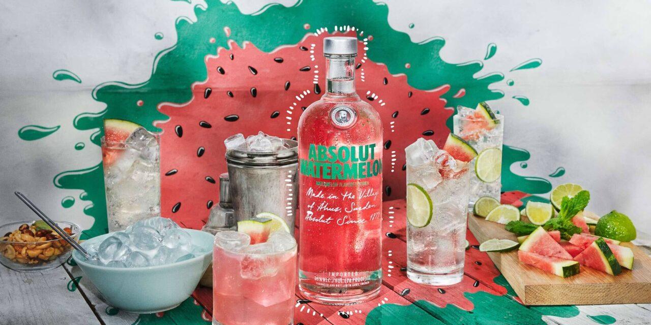 Absolut embotella vodka con sabor a sandía en Absolut Watermelon