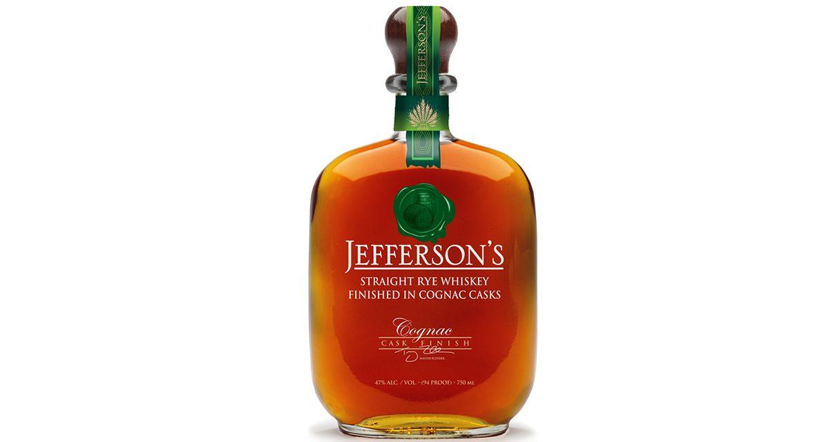 Jefferson's lanza el whisky Rye Cognac Cask Finish