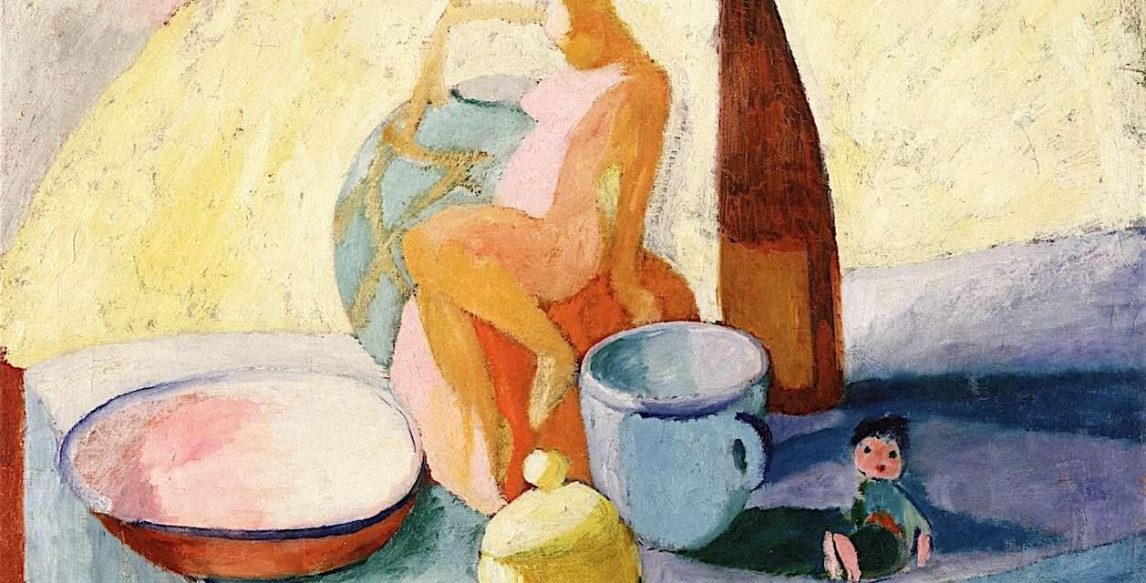 """Bodegón con petaca"" (1910), de Sigrid Hjertén"