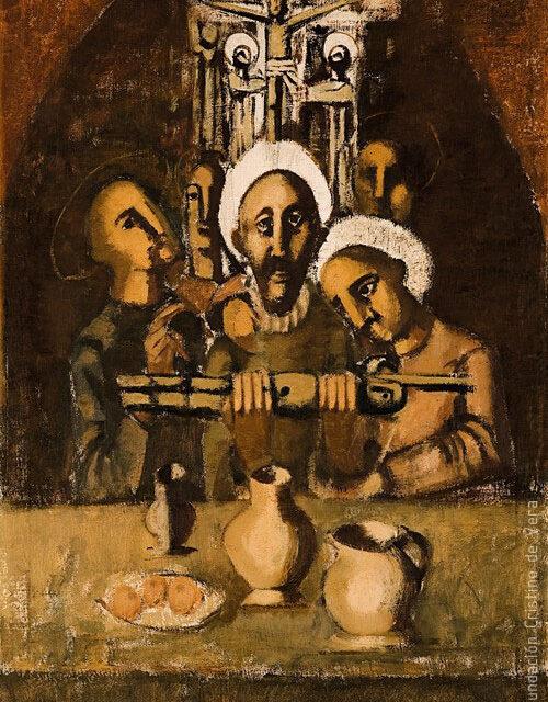 """""""Figuras y bodegón"""" (1956), de Cristino de Vera"""