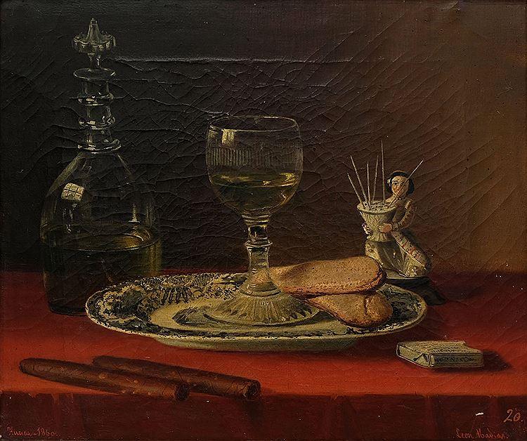 """""""Bodegón"""" (1866), de León Abadías y Santolaria"""
