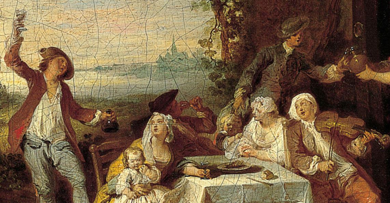 """""""Las cuatro estaciones: otoño"""" (c. 1725-1729), de Pierre-Antoine Quillard"""
