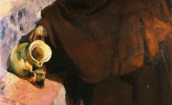 """""""Viejo castellano vertiendo vino"""" (1907), de Joaquín Sorolla"""