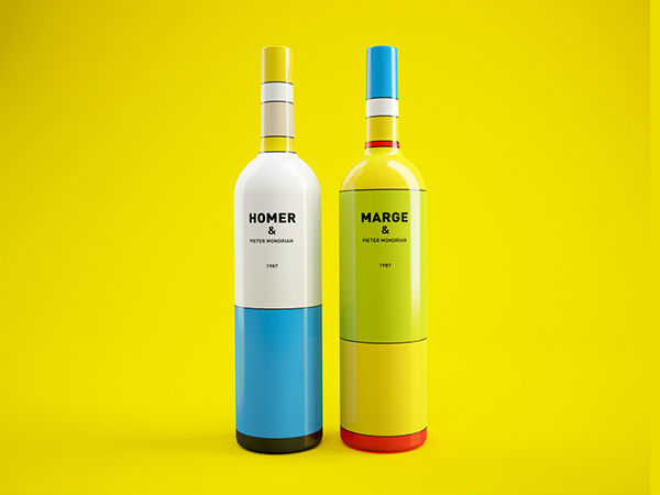 ¿Packaging de vino de Los Simpson?