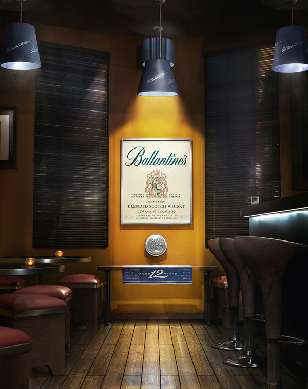 Brillante street marketing de Ballantine's