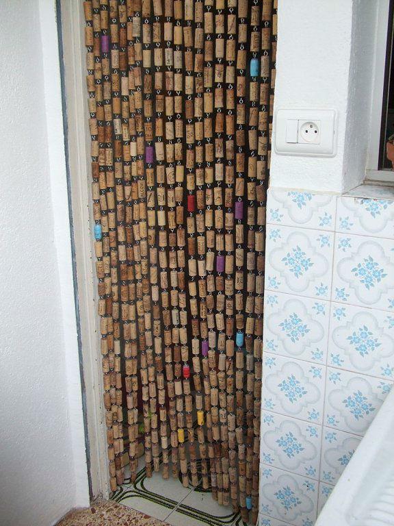 cortina corcho