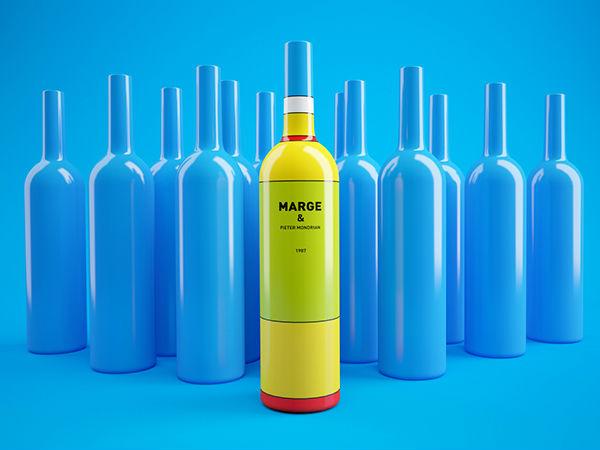 Mondrian Simpsons vino packaging 6