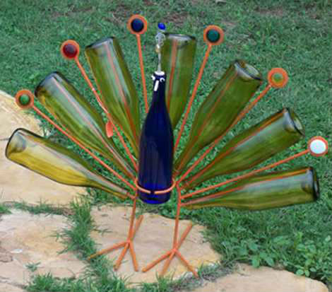 Vino reutilizar botella decoración