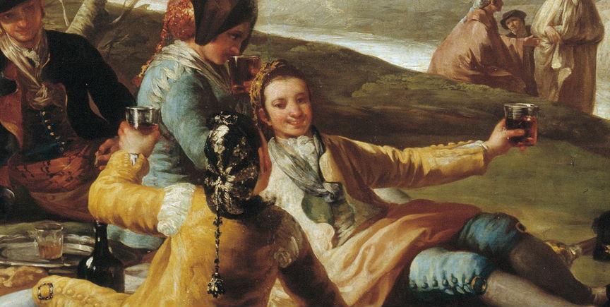 """""""La merienda"""" (1776), de Francisco de Goya y Lucientes"""