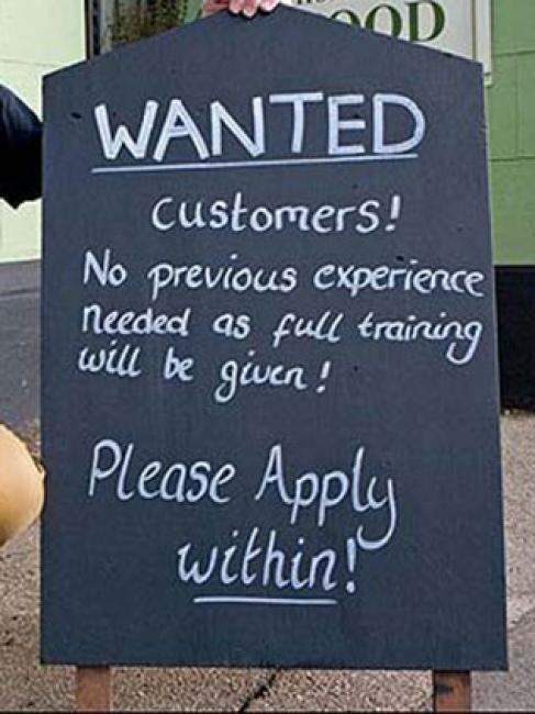 Se buscan clientes. Experiencia previa no necesaria. Se dará entrenamiento completo al llegar