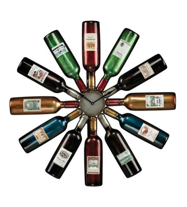 Vino reutilizar botella reloj