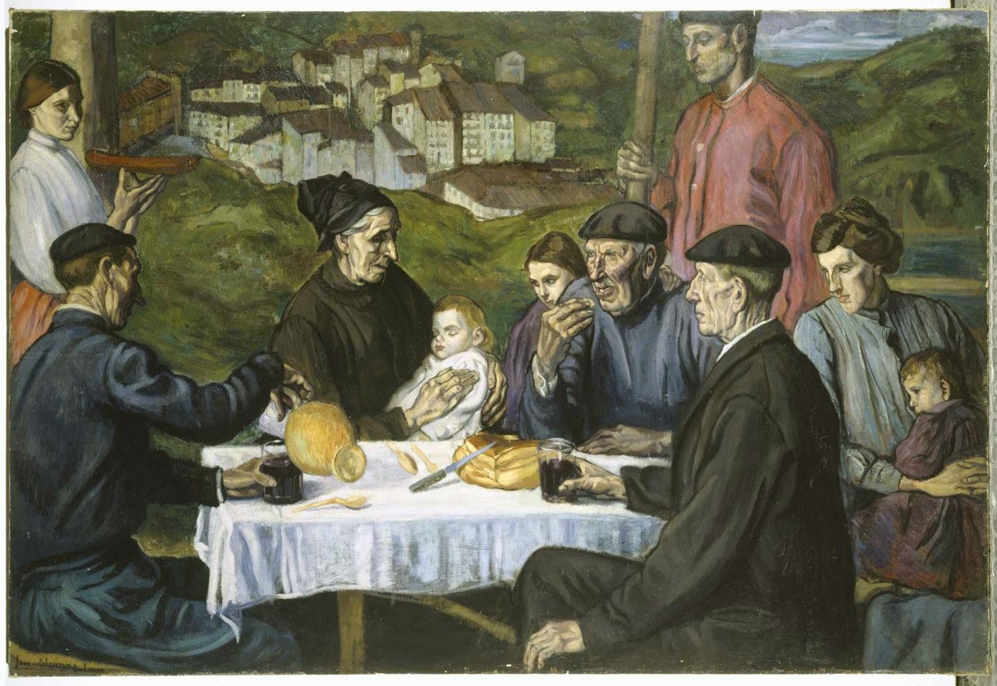 """Merienda vasca en Ondárroa"" (1918-1919), de Juan de Echevarría"