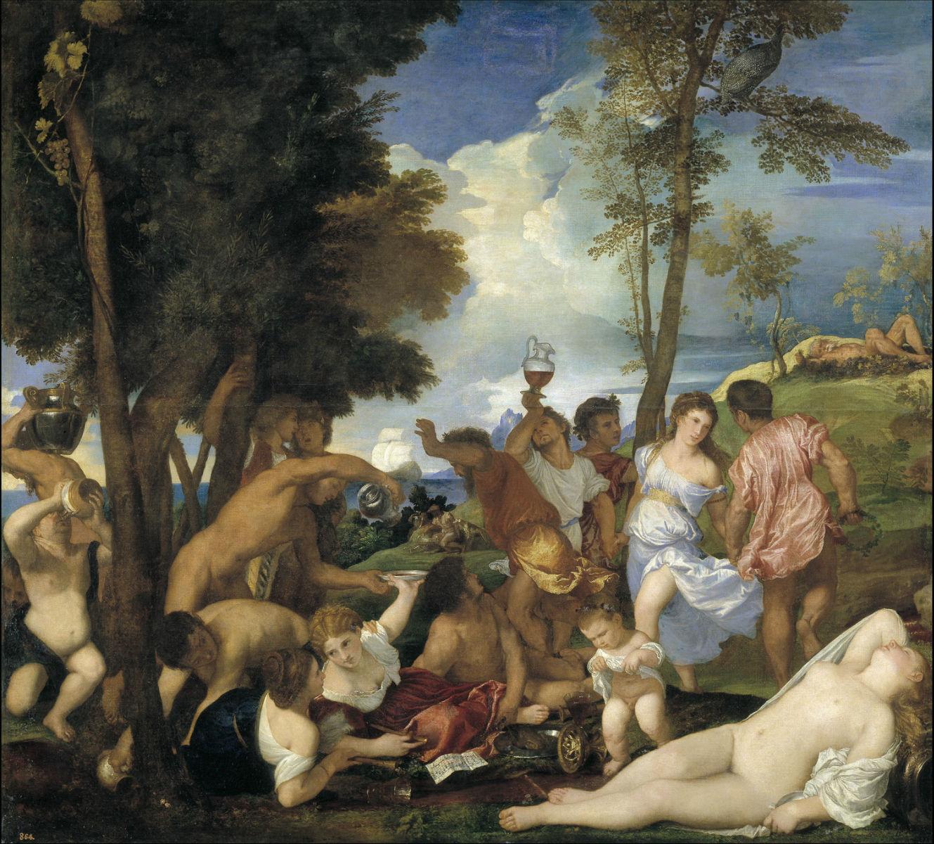 """""""La Bacanal de los Andrios"""" (1523-1526), de Tiziano"""