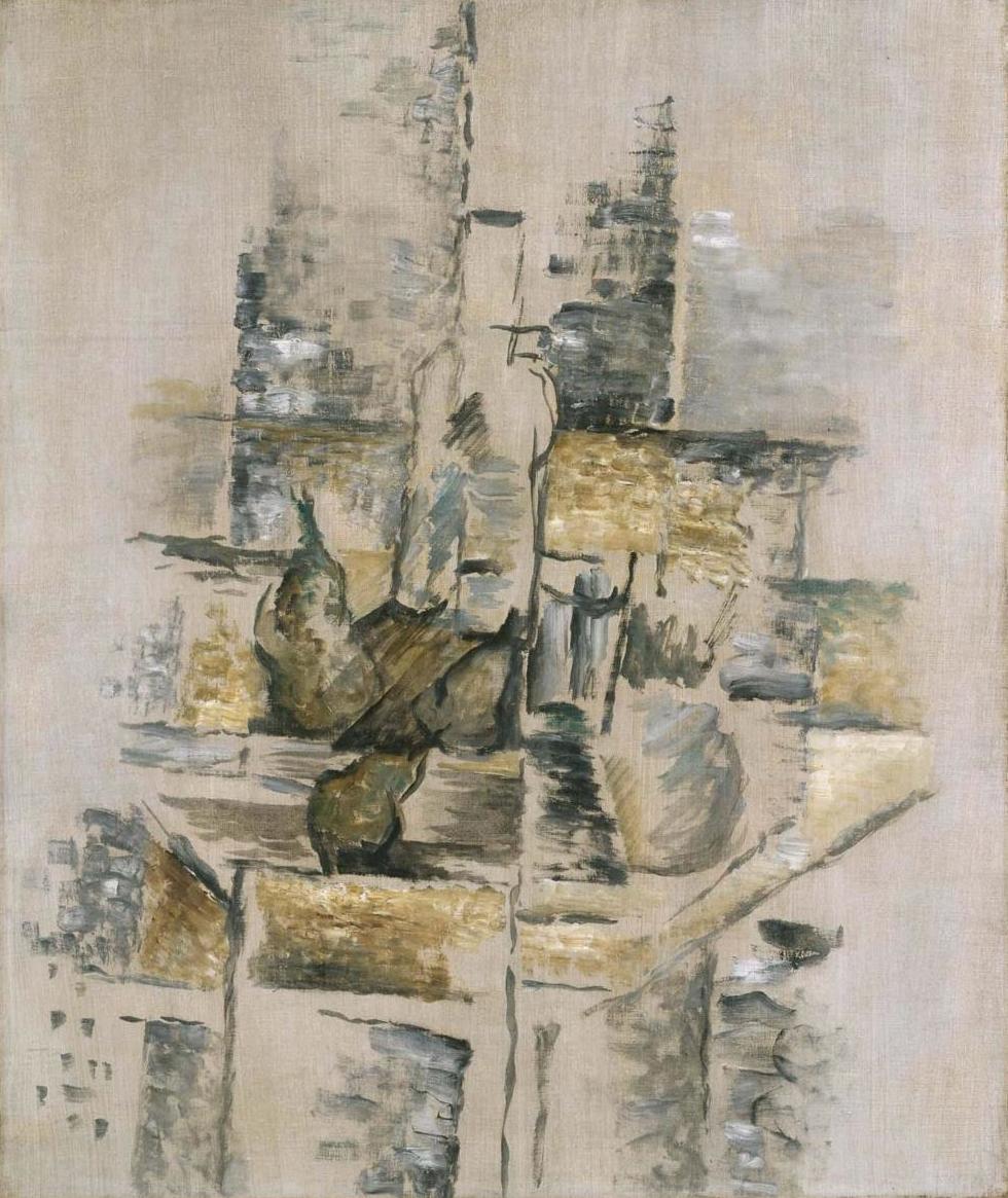 Bouteille et fruits (Botella y frutas) Georges Braque
