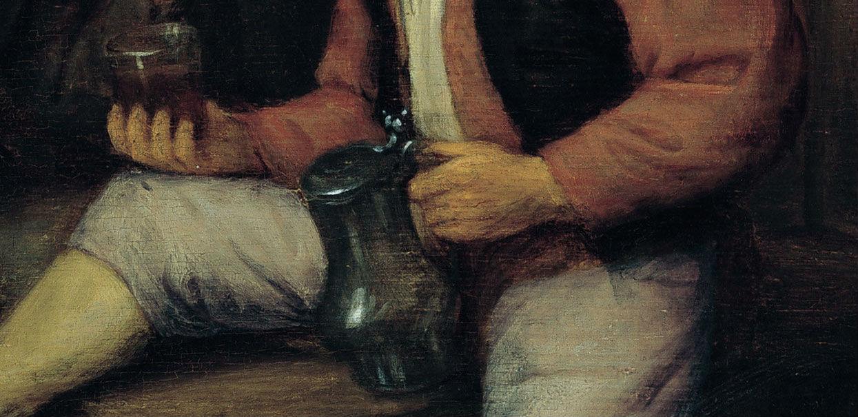 """""""Campesinos bebiendo y fumando en una taberna"""" (1645-1655), de Adriaen van Ostade"""