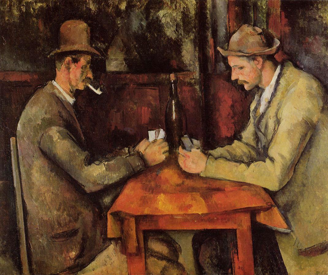 """""""Los jugadores de cartas"""" (1894-95), de Paul Cézanne"""