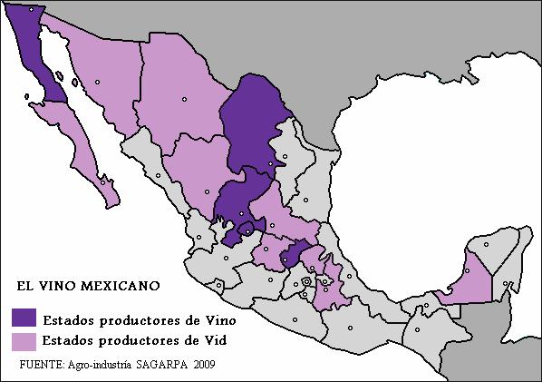 Vino producción México