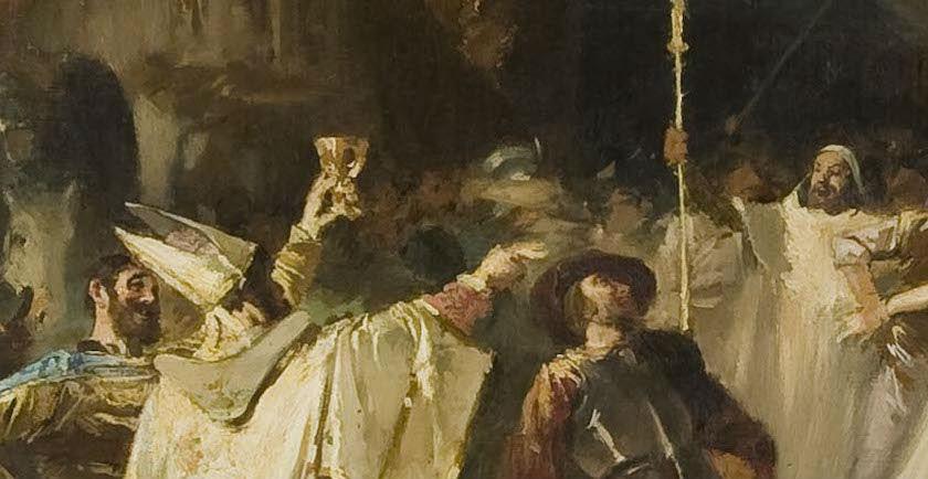 """""""Del saqueo de Roma"""" (1887), de Francisco Javier Amérigo y Aparici"""