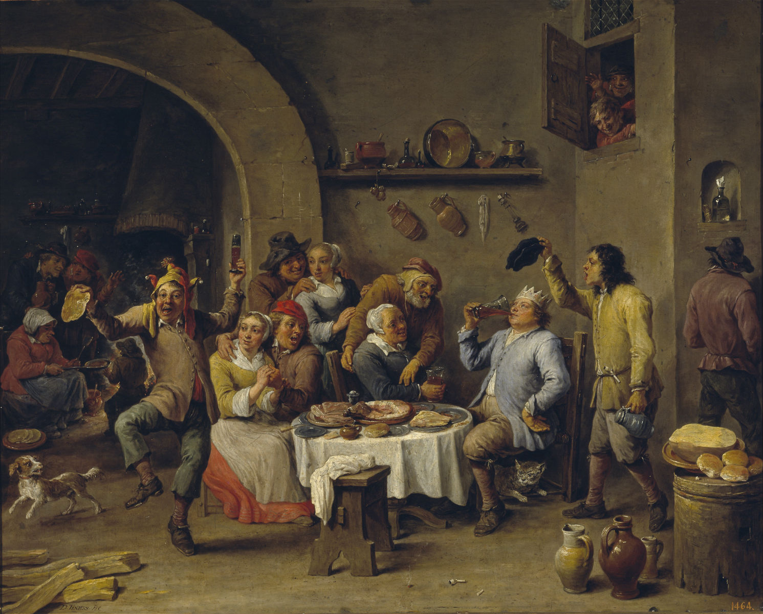 el rey bebe David Teniers