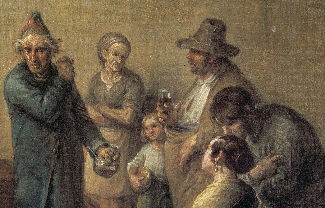 """Veterano narrando aventuras"" (1830), de Leonardo Alenza"