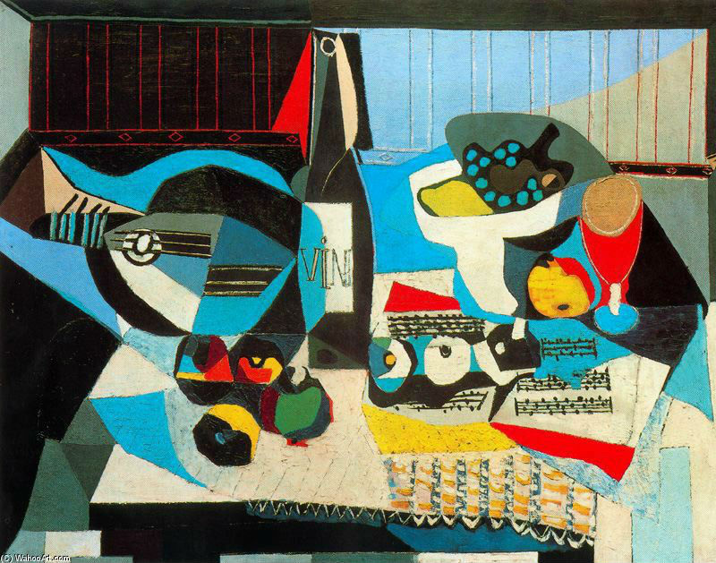 """La botella de vino"" (1922), de Pablo Picasso"