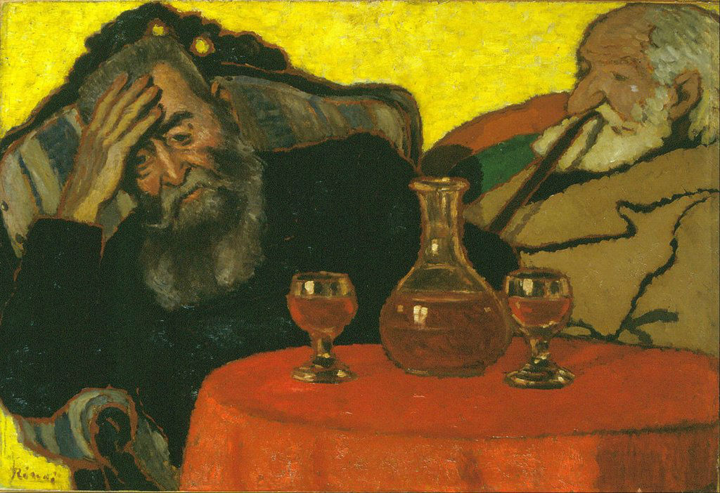 """Mi padre y el tío Piacsek con vino tinto"" (1907), de József Rippl-Rónai"