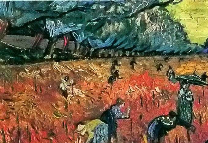 Van Gogh viñedo mujeres