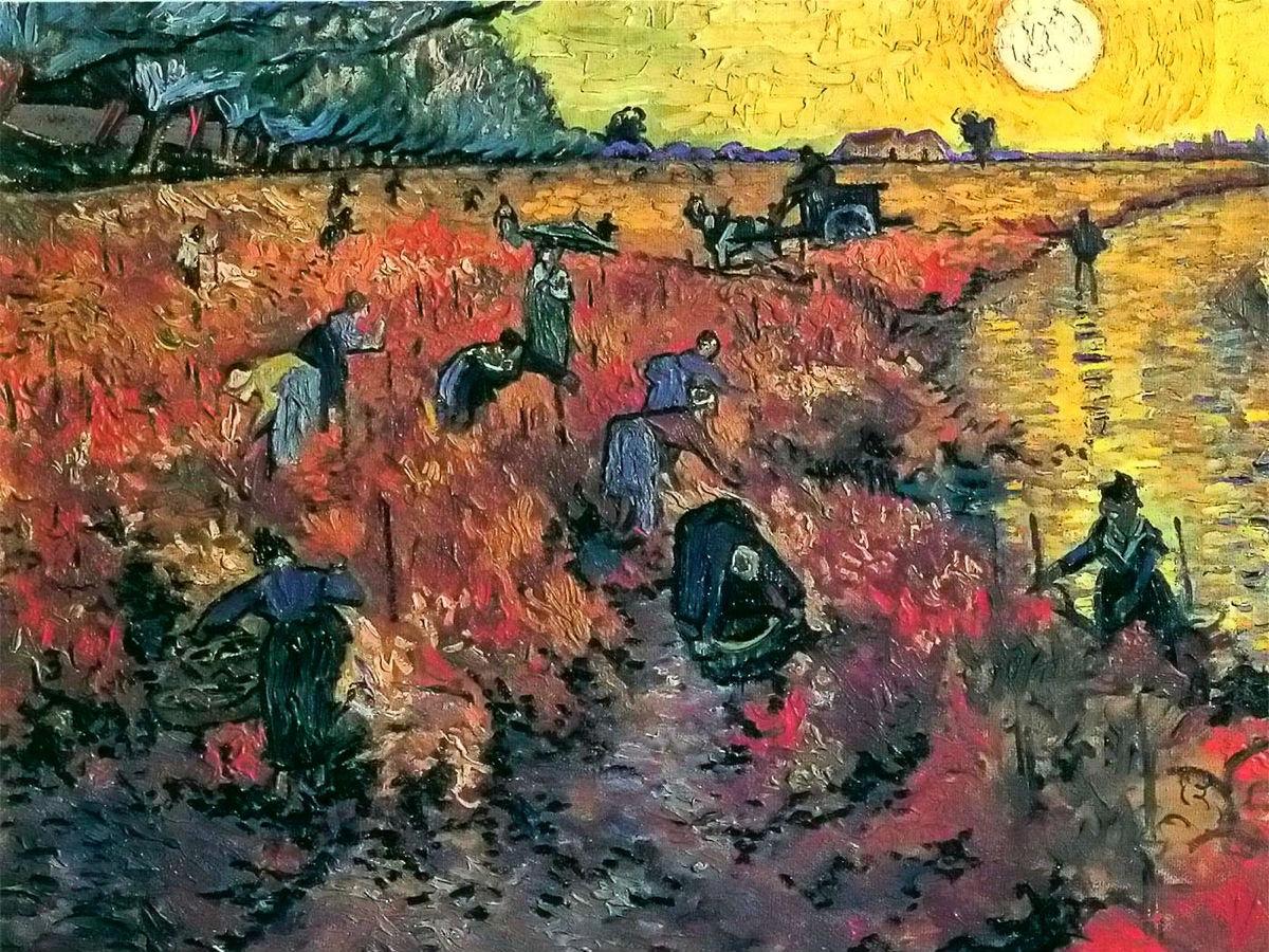 """""""El viñedo rojo cerca de Arlés"""" (1888), de Vincent van Gogh"""