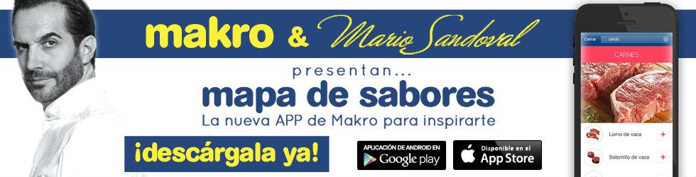 """""""Mapa de Sabores"""", app de Mario Sandoval para inspirar en la cocina"""