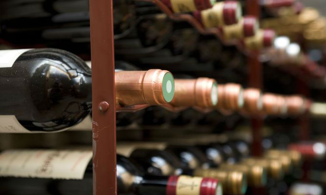 botellas vino vidrio