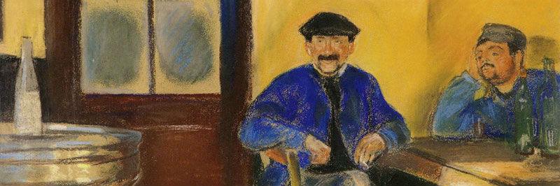 """""""At the Wine Merchant's"""" (1890), de Edvard Munch"""
