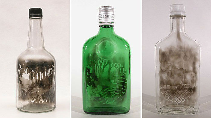 Botellas llenas de humo, otra forma de hacer Arte
