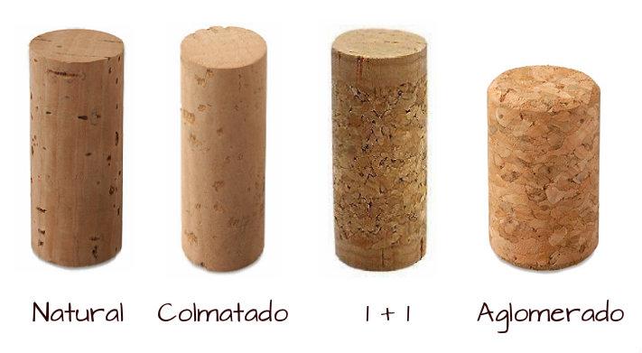 Tipos de corcho. Son todos diferentes ¿Cuál quieres para tu vino?